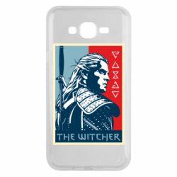 Чехол для Samsung J7 2015 The witcher poster