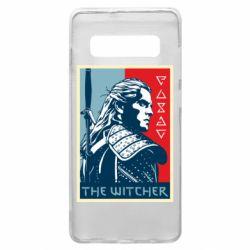 Чехол для Samsung S10+ The witcher poster