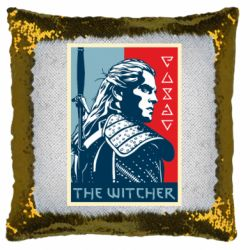 Подушка-хамелеон The witcher poster
