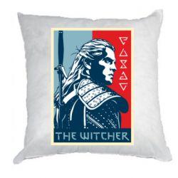 Подушка The witcher poster