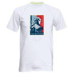 Мужская спортивная футболка The witcher poster