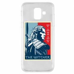 Чехол для Samsung A6 2018 The witcher poster