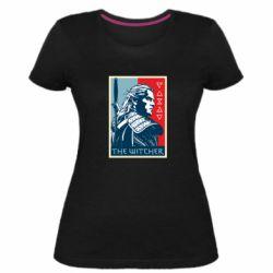 Женская стрейчевая футболка The witcher poster
