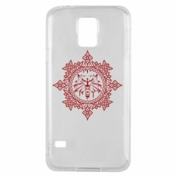 Чохол для Samsung S5 The Witcher Wolf and Pattern