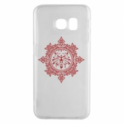 Чохол для Samsung S6 EDGE The Witcher Wolf and Pattern