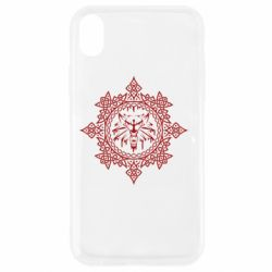 Чохол для iPhone XR The Witcher Wolf and Pattern