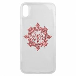 Чохол для iPhone Xs Max The Witcher Wolf and Pattern