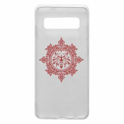 Чохол для Samsung S10 The Witcher Wolf and Pattern
