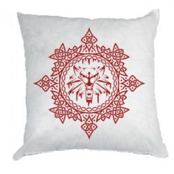 Подушка The Witcher Wolf and Pattern