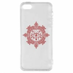 Чохол для iphone 5/5S/SE The Witcher Wolf and Pattern