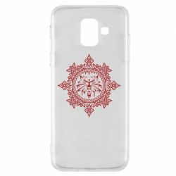 Чохол для Samsung A6 2018 The Witcher Wolf and Pattern