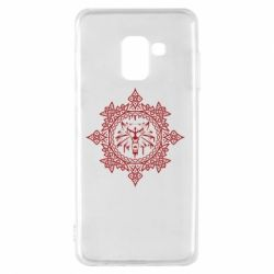 Чохол для Samsung A8 2018 The Witcher Wolf and Pattern