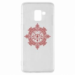 Чохол для Samsung A8+ 2018 The Witcher Wolf and Pattern
