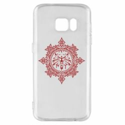 Чохол для Samsung S7 The Witcher Wolf and Pattern