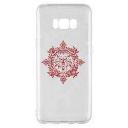 Чохол для Samsung S8+ The Witcher Wolf and Pattern