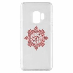 Чохол для Samsung S9 The Witcher Wolf and Pattern