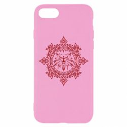 Чохол для iPhone 8 The Witcher Wolf and Pattern