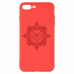 Чохол для iPhone 8 Plus The Witcher Wolf and Pattern