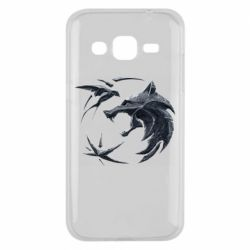 Чехол для Samsung J2 2015 The  witcher: wolf and swallow