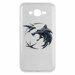 Чехол для Samsung J7 2015 The  witcher: wolf and swallow