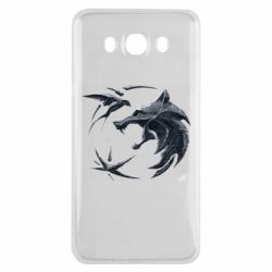 Чехол для Samsung J7 2016 The  witcher: wolf and swallow