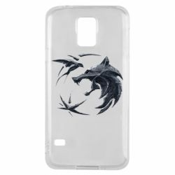 Чехол для Samsung S5 The  witcher: wolf and swallow