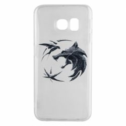 Чехол для Samsung S6 EDGE The  witcher: wolf and swallow