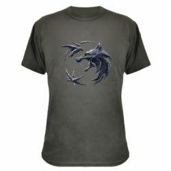 Камуфляжная футболка The  witcher: wolf and swallow