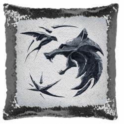 Подушка-хамелеон The  witcher: wolf and swallow