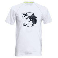 Мужская спортивная футболка The  witcher: wolf and swallow