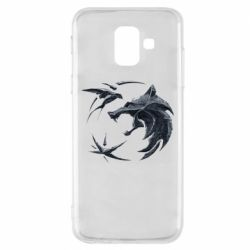 Чехол для Samsung A6 2018 The  witcher: wolf and swallow