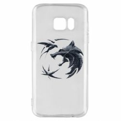 Чехол для Samsung S7 The  witcher: wolf and swallow