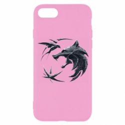 Чехол для iPhone 8 The  witcher: wolf and swallow