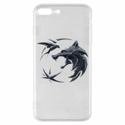 Чехол для iPhone 8 Plus The  witcher: wolf and swallow