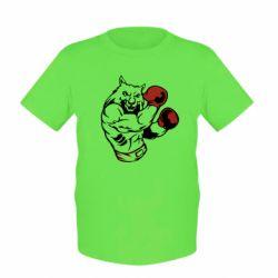 Детская футболка The Wolf Boxer