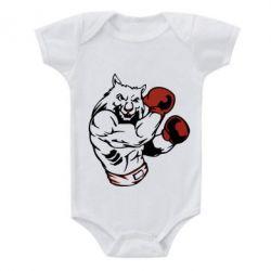 Купить Детский бодик The Wolf Boxer, FatLine