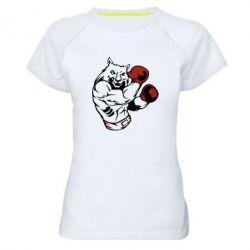Женская спортивная футболка The Wolf Boxer