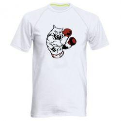 Купить Мужская спортивная футболка The Wolf Boxer, FatLine