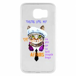 Чехол для Samsung S6 These are my cat affairs