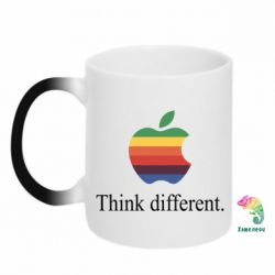 Кружка-хамелеон Think different.