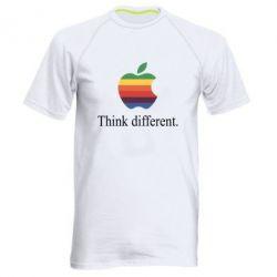 Мужская спортивная футболка Think different.