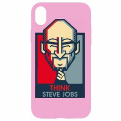 Чехол для iPhone XR Think Steve Jobs