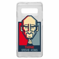 Чехол для Samsung S10+ Think Steve Jobs