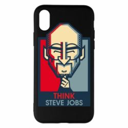Чехол для iPhone X/Xs Think Steve Jobs