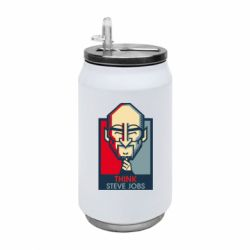 Термобанка 350ml Think Steve Jobs