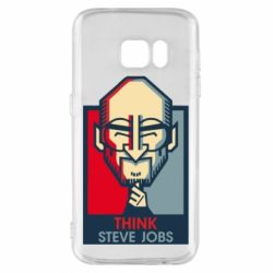 Чехол для Samsung S7 Think Steve Jobs
