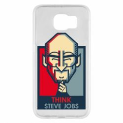 Чехол для Samsung S6 Think Steve Jobs