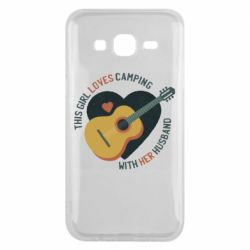 Чохол для Samsung J5 2015 This girl loves camping with her husband