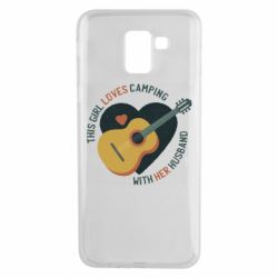 Чохол для Samsung J6 This girl loves camping with her husband