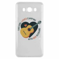 Чохол для Samsung J7 2016 This girl loves camping with her husband